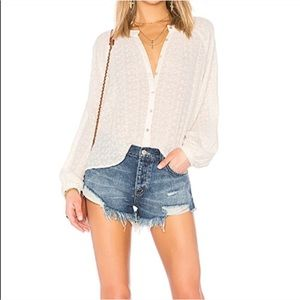 Free People Down from the Clouds Blouse, Small